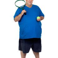 Tennissen met overgewicht sloopt de knieën